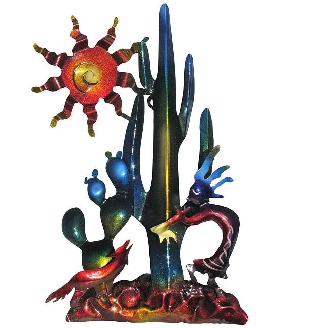 Latest Kokopelli Metal Wall Art In Southwest Kokopelli And Cactus 3D Metal Wall Art (View 13 of 15)