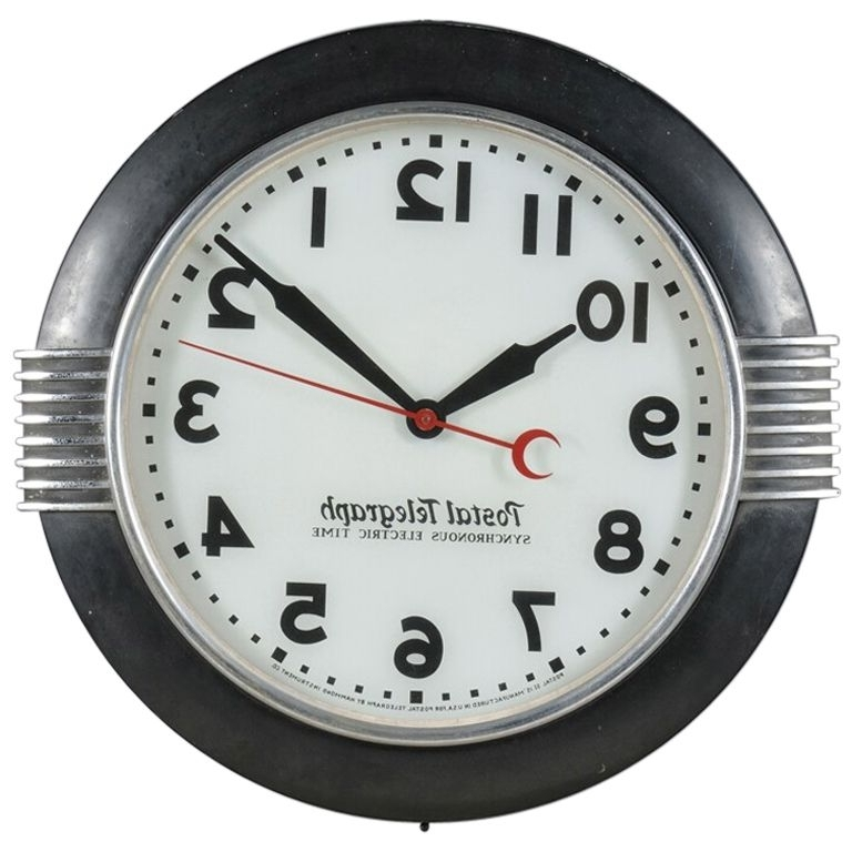 Latest Large Art Deco Wall Clocks For Large Art Deco Period Wall Clock (View 4 of 15)