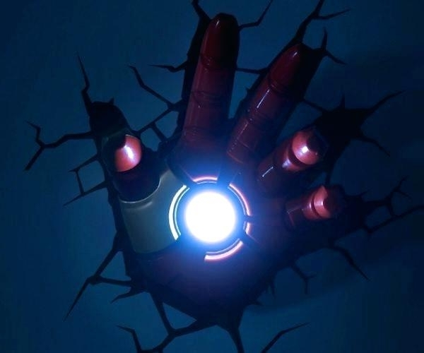 Latest Marvel 3D Lights Marvel Wall Art Night Lights Bundle Iron Man Hulk Pertaining To 3D Wall Art Night Light Australia (View 9 of 15)