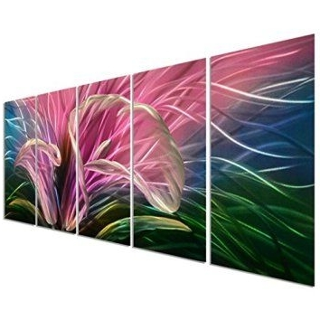 Latest Metal Flower Wall Art  Floral Metal (View 5 of 15)