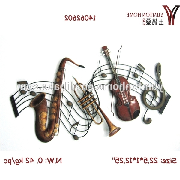 Latest Metal Music Notes Wall Art In Music Notes Metal Wall Art Decoration – Buy Music Notes Wall (View 4 of 15)