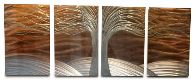 Latest Metal Wall Art Decor Abstract Contemporary Modern Sculpture  Tree Of Throughout Abstract Copper Wall Art (View 8 of 15)