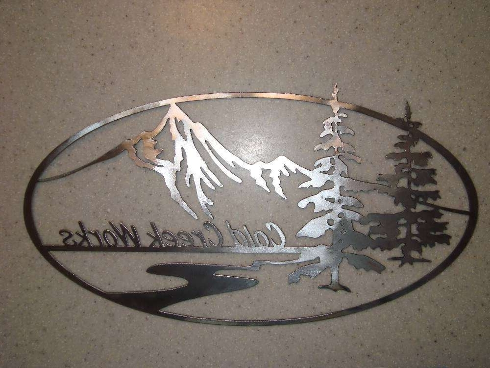 Latest Mountain Scene Metal Wall Art In Mountain Oval : Signtorch, Turning Images Into Vector Cut Paths (View 14 of 15)