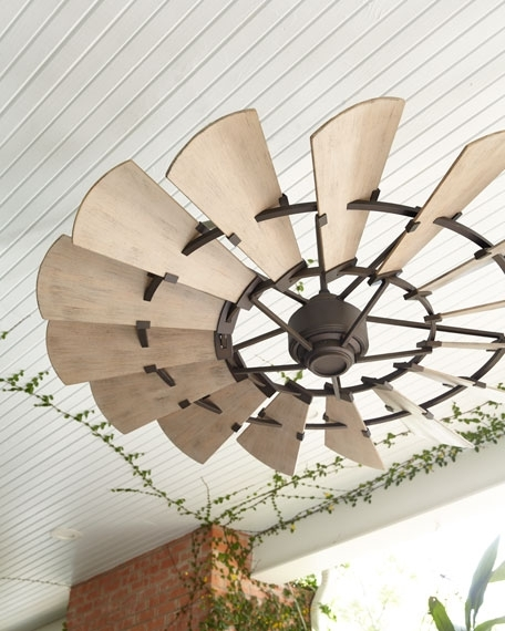 Latest Outdoor Ceiling Fans In Windmill Bronze Outdoor Ceiling Fan (View 4 of 15)