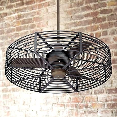 Latest Outdoor Fan With Light Ceiling Caged Fans Li – Hitmangear (View 10 of 15)