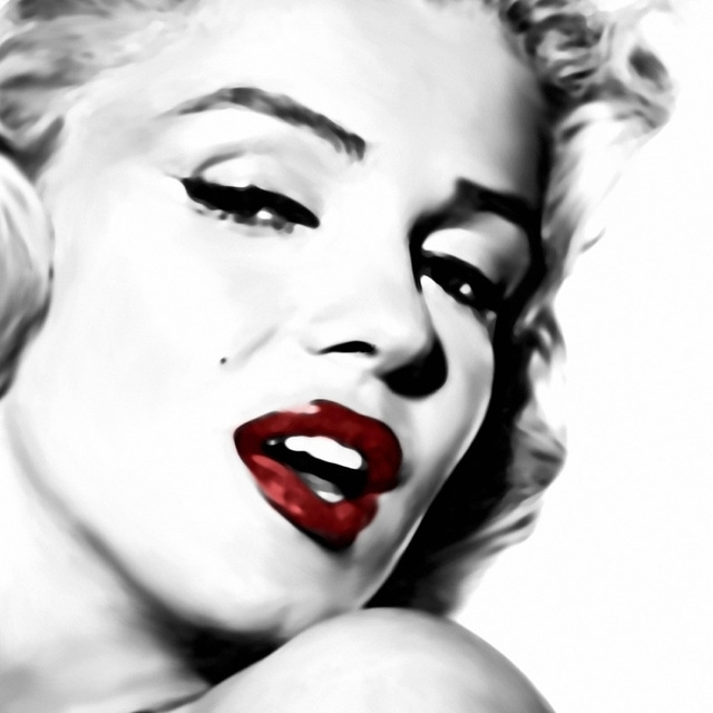 Latest Printed Sexy Marilyn Monroe Black White Red Oil Painting On Canvas Intended For Marilyn Monroe Black And White Wall Art (View 11 of 15)