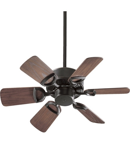 Latest Quorum Outdoor Ceiling Fans With Quorum 143306 95 Estate Patio 30 Inch Old World With Walnut Blades (View 7 of 15)
