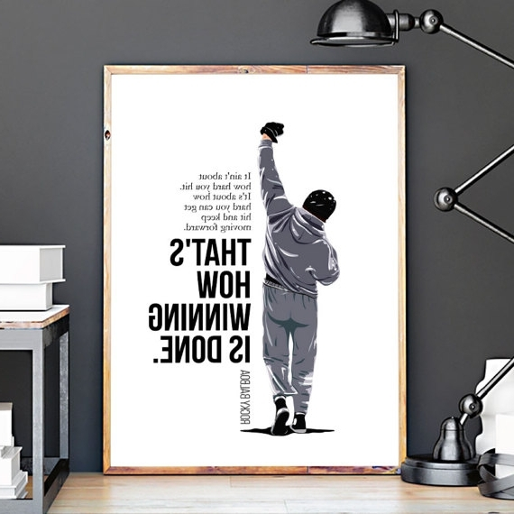 Latest Rocky Balboa Wall Art Throughout Rocky Balboa Vector Art Print, Rocky Balboa Quotes, Movie Poster (View 5 of 15)