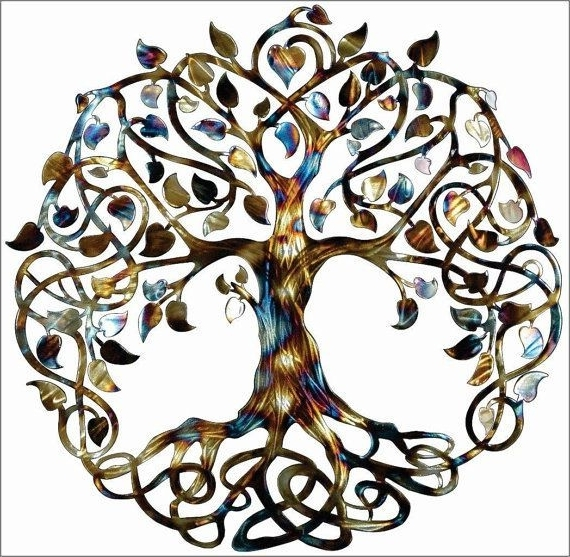 Latest Tree Of Life Infinity Tree Wall Decorhumdingerdesignsetsy With Celtic Tree Of Life Wall Art (View 5 of 15)