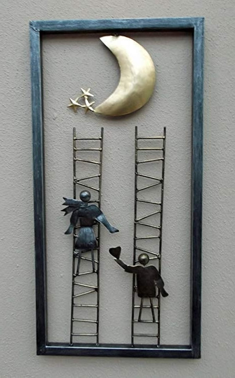 Latest Unusual Wall Art Hand Made 3D Contemporary Wall Art Ladder To The With Regard To Unusual 3D Wall Art (View 9 of 15)