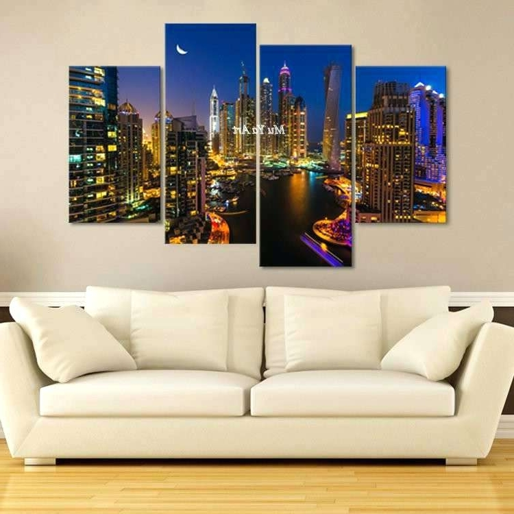 Latest Wall Art 4 Piece Set 4 Piece Canvas Wall Art Best Of Set 4 Canvas Pertaining To 4 Piece Canvas Art Sets (View 15 of 15)