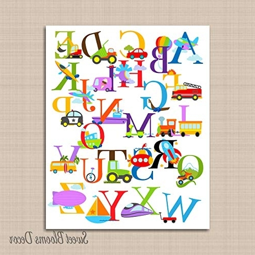 Latest Wall Art For Playroom Throughout Amazon: Transportation Wall Art,transportation Wall Décor (View 5 of 15)