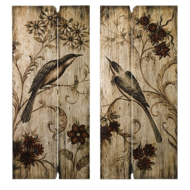 Latest Wall Art Ideas Design Wooden Birds Country French At (View 9 of 15)
