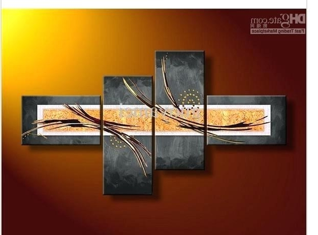 Latest Wall Art Sets Of 4 Wall Art Sets Framed Canvas Art Metal Wall Art Inside 4 Piece Wall Art Sets (View 8 of 15)