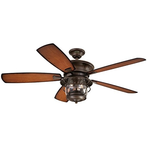 Latest Westinghouse 7800000 Brentford 52 Inch Aged Walnut Indoor/outdoor With 52 Inch Outdoor Ceiling Fans With Lights (View 10 of 15)