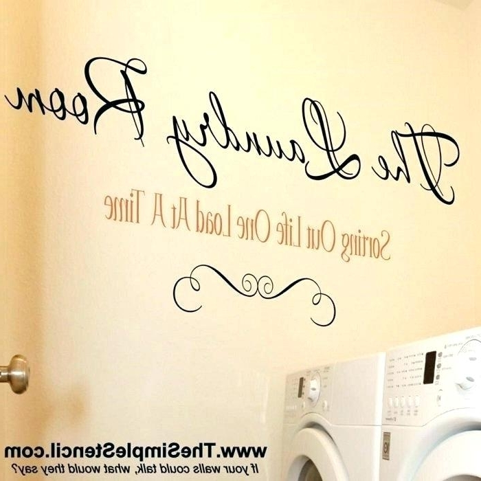 Laundry Room Wall Art Decors In Best And Newest Laundry Room Wall Art Ideas Laundry Room Wall Decor Laundry Room (View 7 of 15)
