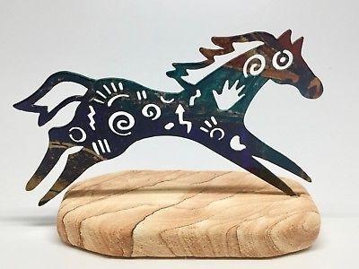 Lazart Metal Art Regarding 2018 Lazart Metal Art Horse Sculpture Sandstone Base Story Pony (View 5 of 15)