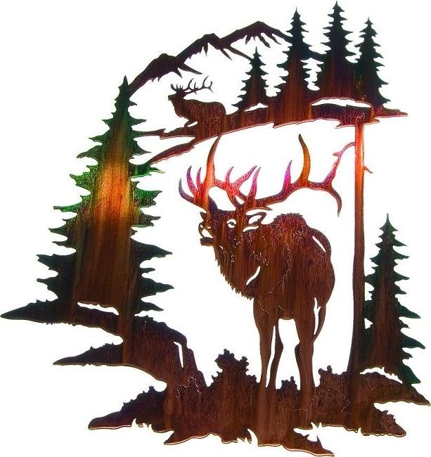 Lazart Metal Art Regarding Current Lazart Wilderness Wildlife Lodge Art (View 13 of 15)