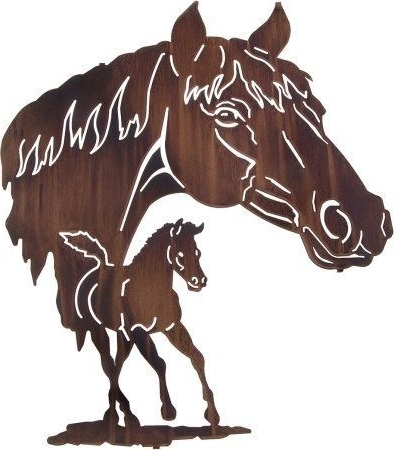 "Lazart Metal Wall Art For Preferred 28"" Lazart Metal Wall Art Wall Decor – Reflections Mare And Colt (View 5 of 15)"