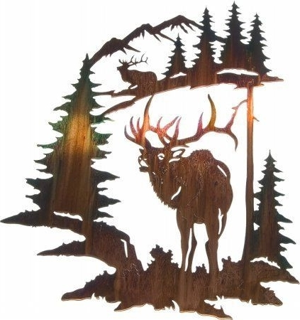 "Lazart Metal Wall Art with regard to Famous 28"" Lazart Metal Wall Art Wall Decor - Elk Challenge, Http://www"