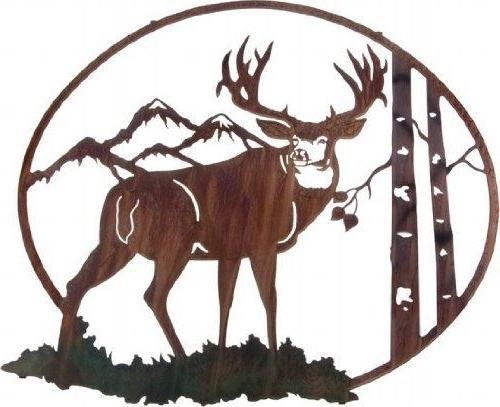 "Lazart Metal Wall Art With Regard To Well Liked 26"" Lazart Metal Wall Art Wall Decor – Mule Deer With Aspen Vignette (View 14 of 15)"