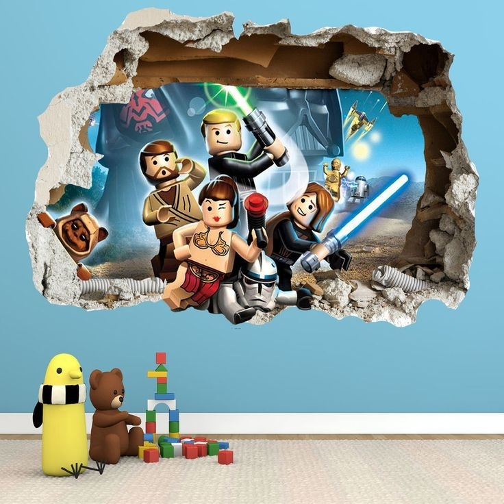 Lego Star Wars Wall Clings Pertaining To 2018 Lego Star Wars Wall Art (View 11 of 15)