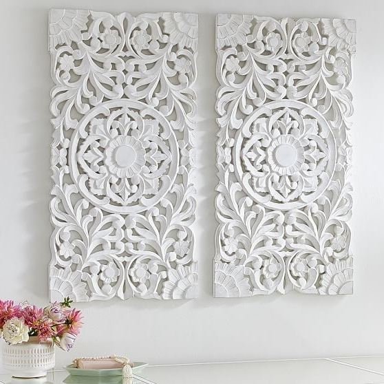 Lennon & Maisy Ornate Wood Carved Wall Art, Set Of  (View 3 of 15)