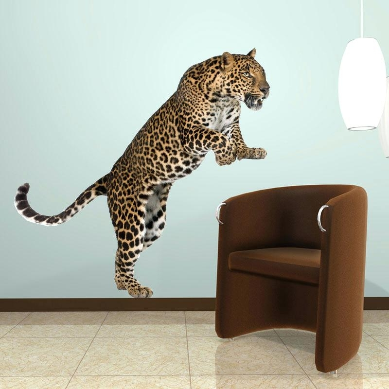 Leopard Print Wall Art Throughout Latest Leopard Wall Decals Plus Made Finely Leopard Wall Art Type Rear Many (View 8 of 15)