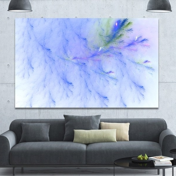 Light Abstract Wall Art Regarding Widely Used Shop Designart 'light Blue Veins Of Marble' Abstract Wall Art Canvas (View 8 of 15)