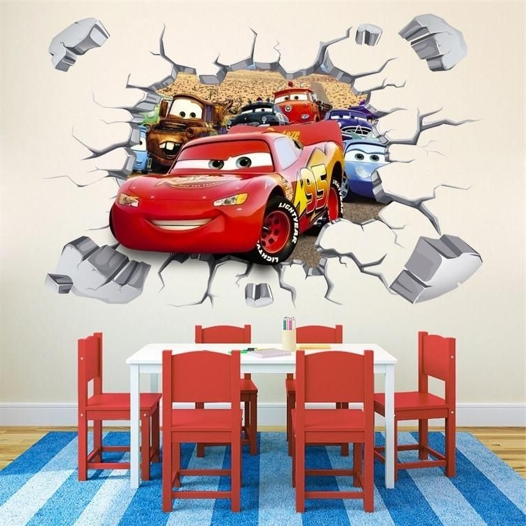 Lightning Mcqueen Wall Art With Well Known Disney Cars Lightning Mcqueen Wall Stickers (View 1 of 15)