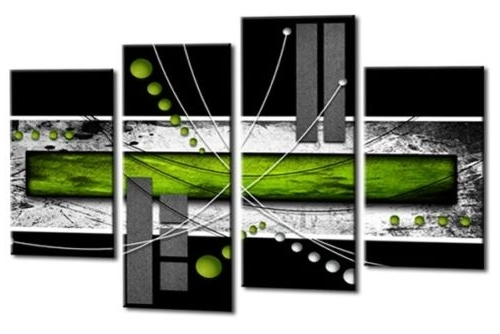 Lime Green Abstract Wall Art Regarding Fashionable Abstract Squares Canvas Wall Art (View 9 of 15)