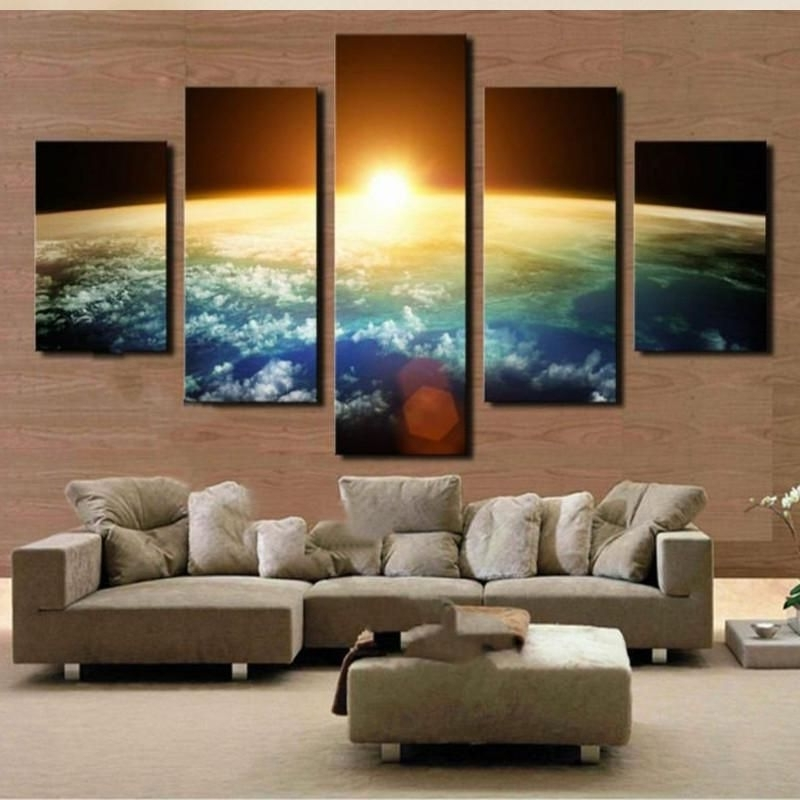 Limited Edition Canvas Wall Art For Preferred Sun Rising Over Earth 5 Piece Hq Canvas Wall Art Print – Limited (View 12 of 15)