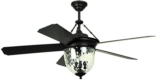 Litex E Km52Abz5Cmr Knightsbridge Collection 52 Inch Indoor/outdoor Within Most Current Exterior Ceiling Fans With Lights (View 9 of 15)