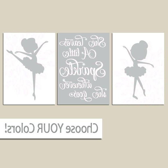 Little Girl Canvas Wall Art Ballerina Wall Art Canvas Or Prints She Throughout Popular Girls Canvas Wall Art (View 11 of 15)