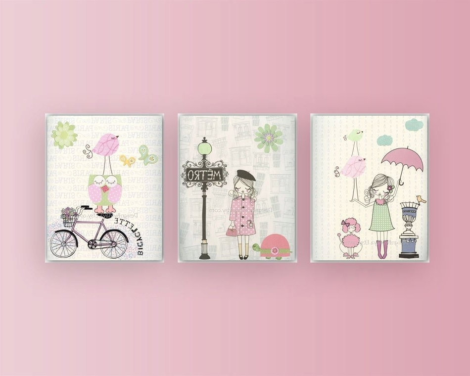 Little Girl Wall Art Throughout Trendy Wall Art For Baby Girl Room – Elitflat (View 7 of 15)