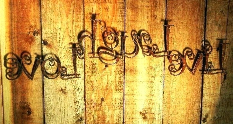 Live Love Laugh Metal Wall Art With Most Current Wrought Iron Wall Decor Live Laugh Love Metal Wall Decor Live Laugh (View 6 of 15)