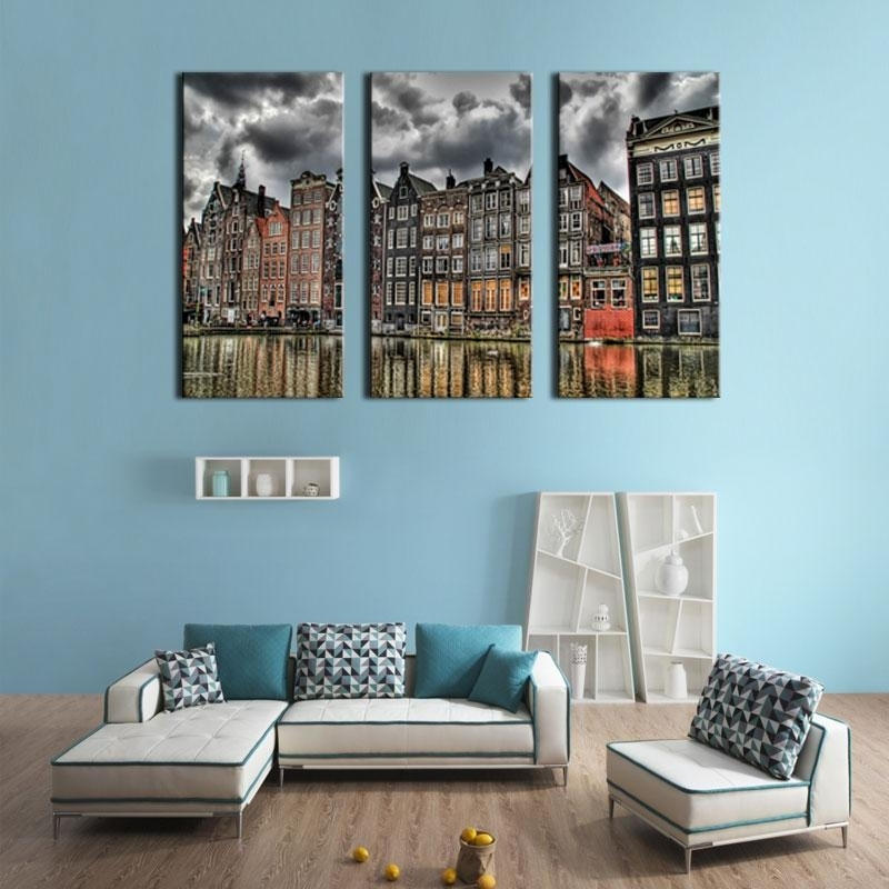 London Scene Wall Art Throughout Newest 3 Picture Combination Canvas Print Wall Art Painting For Home Decor (View 4 of 15)