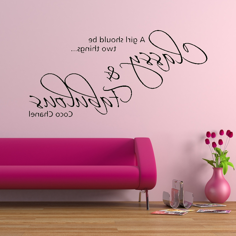 Love Coco 3D Vinyl Wall Art Within Well Known Quote Wall Decals Personalizing Your Home — Batchelor Resort Home Ideas (View 7 of 15)