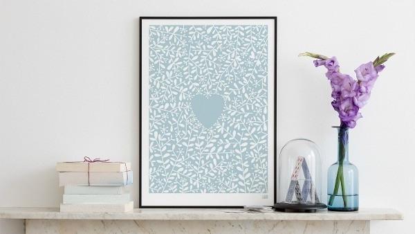Love Grows – Duck Egg Blue – Wall Art – Homewares (View 11 of 15)