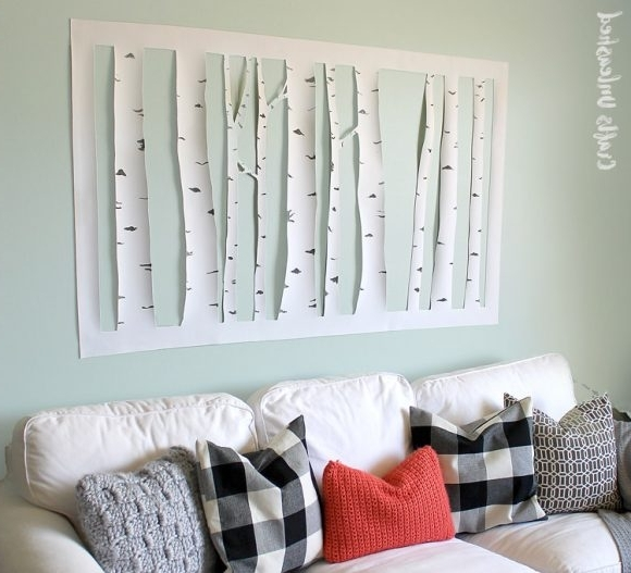 Make Aspen Tree Wall Art » Dollar Store Crafts Throughout Popular Aspen Tree Wall Art (View 2 of 15)
