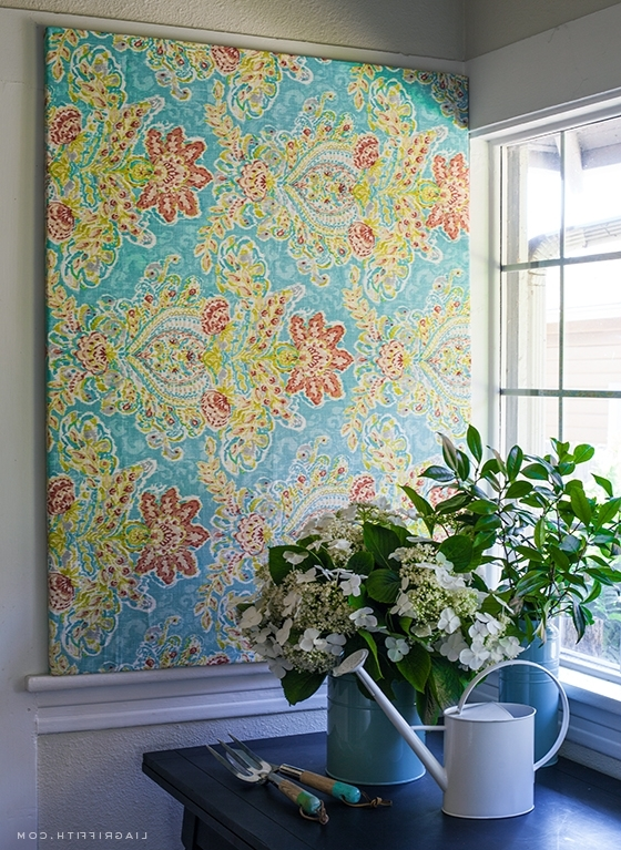 Make Easy Diy Art With A Canvas Stretcher Frame And Pretty Fabric With 2017 Stretched Fabric Wall Art (View 4 of 15)