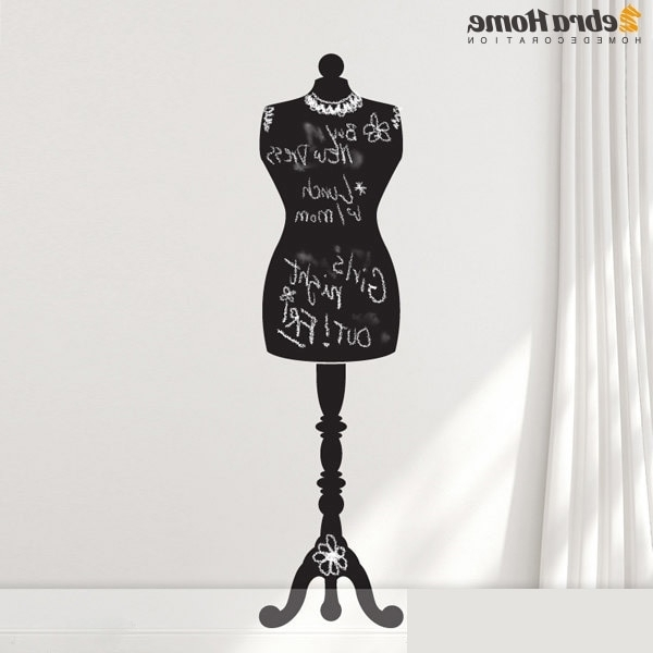 Mannequin Dress Form Memo Creative Blackboard Wall Stickers With Most Up To Date Mannequin Wall Art (View 2 of 15)