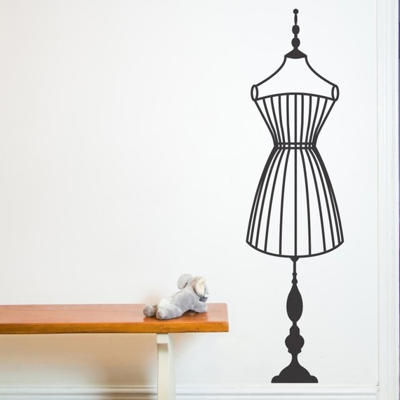 Mannequin Wall Sticker Decals Wall Tattoo Wall Art (View 15 of 15)