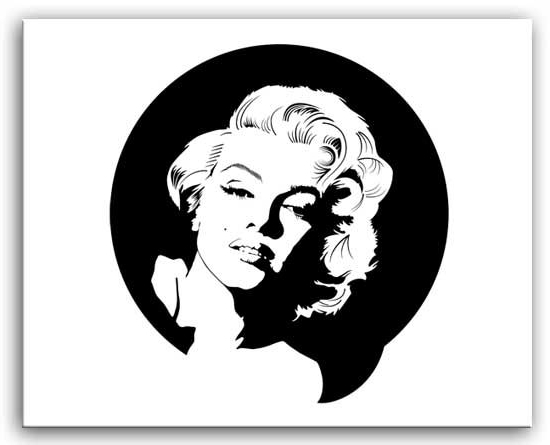 Marilyn Monroe Black And White Wall Art For Best And Newest Marilyn Monroe – Black And White Canvas (View 9 of 15)
