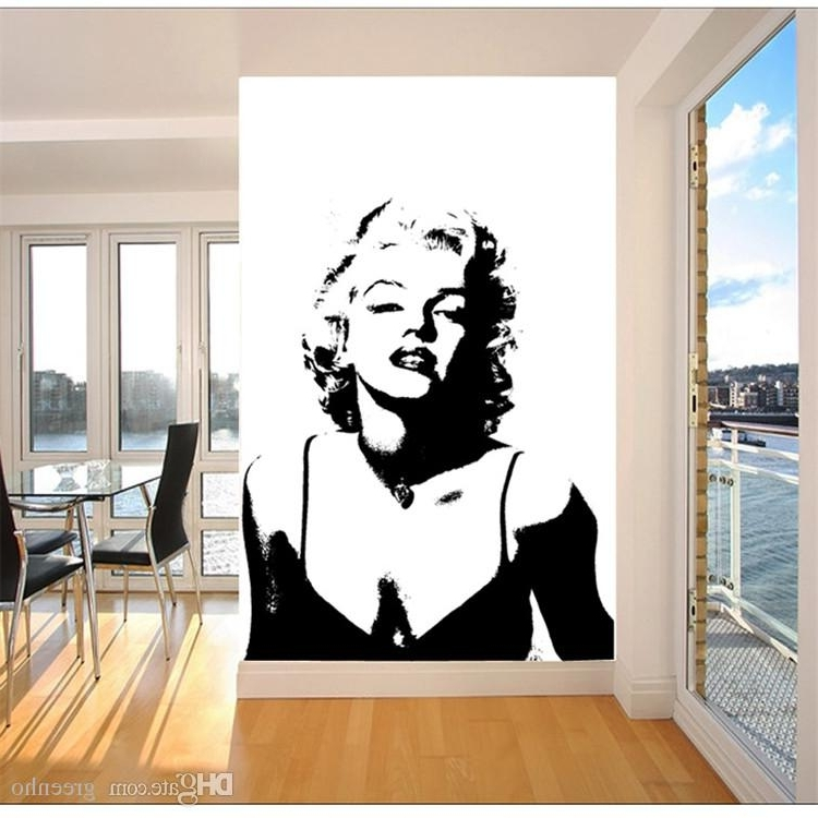 Marilyn Monroe Black And White Wall Art Regarding Well Known Classic Marilyn Monroe Photo Wallpaper Custom Elegant Large Wall (View 10 of 15)
