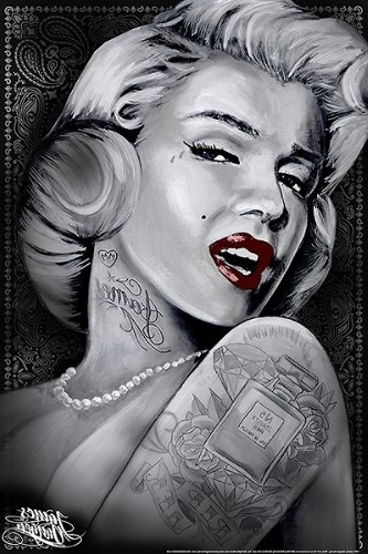 Marilyn Monroe Framed Wall Art Regarding Most Popular Amazon: Marilyn 1 (Marilyn Monroe Tattoos)James Danger (View 8 of 15)