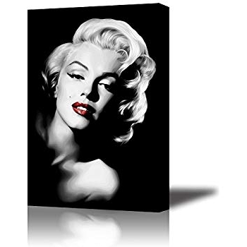 Marilyn Monroe Framed Wall Art Throughout Most Current Amazon: Piy Red Lips Monroe Wall Art With Frame, Canvas Prints (View 6 of 15)