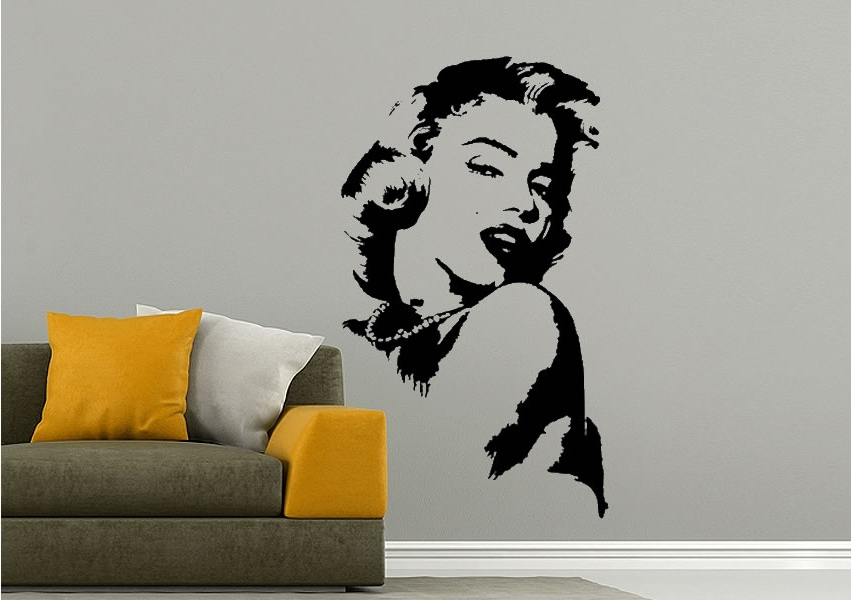 Marilyn Monroe Wall Art For Latest Marilyn Monroe Glamour People Wall Stickers Adhesive Wall Sticker (View 15 of 15)