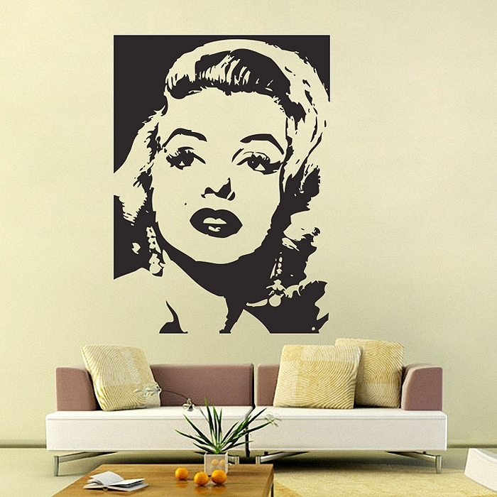 Marilyn Monroe Wall Art Inside 2018 Marilyn Monroe Vinyl Wall Art Decal (View 8 of 15)