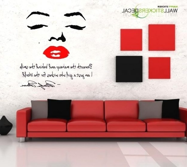 Marilyn Monroe Wall Art Quotes Inside Most Recent Marilyn Monroe Wall Decor Quotes The Drawing Room Interiors In (View 8 of 15)